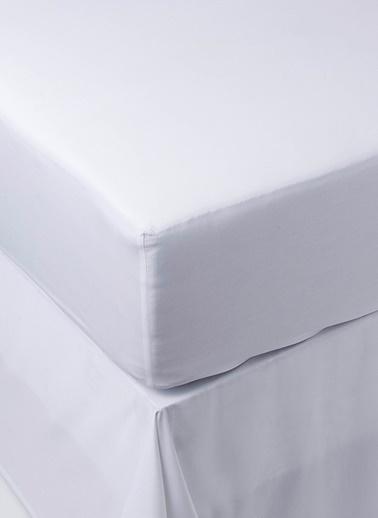 Chakra Classic Uni Çift Kişilik Lastikli Çarşaf Beyaz